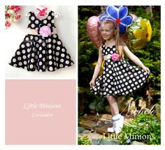 Polka dot Sun Dress with Pink Corsage on the belt. Minion S, Kid Styles, Corsage, Polka Dot, Fashion Dresses, Pink, Vintage, Clothes, Outfit