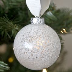 Make ten easy, handmade ornaments in under an hour with just a few supplies!