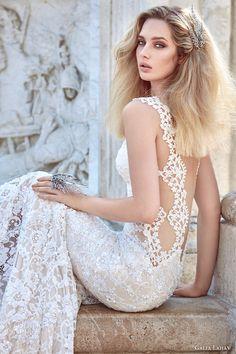 galia lahav fall 2016 bridal sleeveless lace sweetheart sheath lace wedding dress