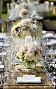 Featured Photographer: Vero Suh Photography; Wedding reception centerpiece idea.