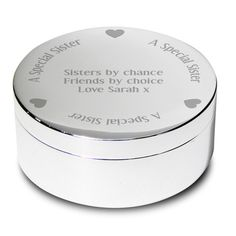 Personalised A Special Sister Round Trinket Gift