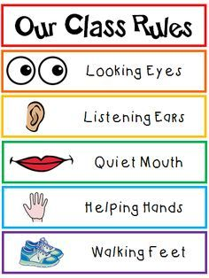 Our Class Rules poster that any Kindergarten student, pre-K student, Transitional Kindergarten student can all read! {FREEBIE} Our Class Rules poster that any Kindergarten student, pre-K student, Transitional Kindergarten student can all read! Classroom Setting, Future Classroom, Classroom Organization, Classroom Management, Stationary Organization, Organization Ideas, Preschool Behavior Management, Behaviour Management, Class Management