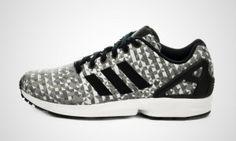 Nuove Adidas Originals ZX Flux Weave (Grigio / bianco / nero) Uomo Scarpe sportive