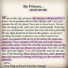 My Princess. Your Kingdom come! Your will be done, here, in my life, as it is in Heaven! Christian Life, Christian Quotes, Faith Quotes, Bible Quotes, Gods Princess, My Princess Quotes, Journaling, Jesus Christus, Gods Promises