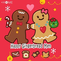"""Happy Gingerbread Men""  A cute gingerbread men theme. Great for the Christmas season. Download Now:http://bit.ly/2iTuu7g #cute #wallpaper #design #icon #plushome #homescreen #widget #deco"