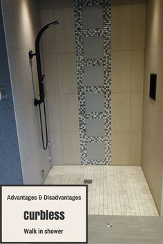 Learn the advantages and disadvantages of a curbless walk in shower http://blog.innovatebuildingsolutions.com/2015/12/11/advantages-disadvantages-curbless-walk-shower/