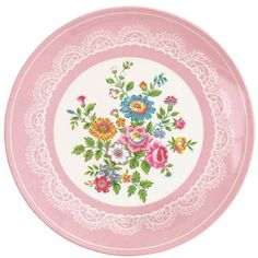 Pink Greengate Melamine Plate