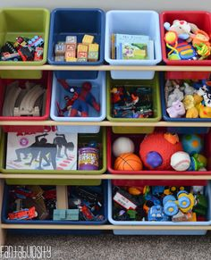 Toy Organizer Playroom design and decor ideas, Part 5 of Home Tour http://fantabulosity.com