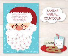 Santa's Arrival Countdown -- free printable