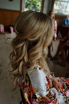 Half up half down curl hairstyles - partial updo wedding hairstylespartial updo bridal hairstyles - a great options for the modern bride from bohemian hair