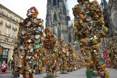 Upcycled sculpture made of tins and cans!