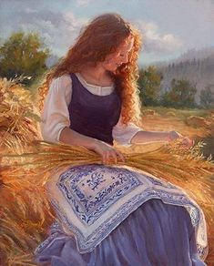 Fields of Gold Sheri Dinardi Oil ~ 20 x 16 Fields Of Gold, Woman Painting, Painting & Drawing, Images Esthétiques, Mystique, Beautiful Paintings, Love Art, Diy Art, Female Art