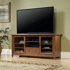 Amazon.com: Sauder Edge Water TV Stand in Chalked Chestnut: Electronics