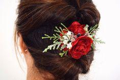 Flower Crown Bride, Floral Crown Wedding, Red Wedding Flowers, Bride Flowers, Bridesmaid Flowers, Flowers In Hair, Floral Crowns, Bridesmaid Hair, Bridesmaids