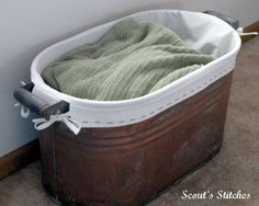 Scout's Stitches: Antique Copper Tub With Lining
