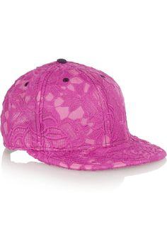 House of Holland - + New Era lace-appliquéd voile baseball cap b5695937cab6