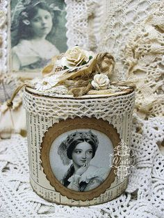 Altered Shabby Chic Container