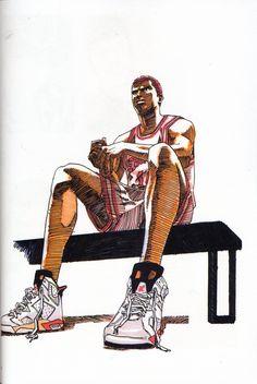 Manga Drawing, Manga Art, Manga Anime, Anime Art, Slam Dunk Manga, Basketball Art, Love And Basketball, Inoue Takehiko, Comic Manga