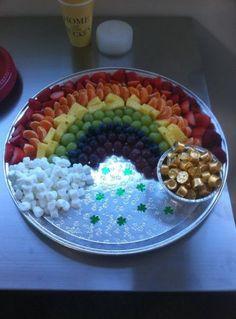 48 Ideas fruit tray ideas for kids st patrick Rainbow Unicorn Party, Unicorn Themed Birthday Party, Rainbow Birthday Party, 4th Birthday, Birthday Food Ideas For Kids, Rainbow Parties, Food Kids, Rainbow Baby, Kinder Party Snacks