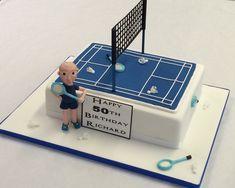 Badminton Court Cake