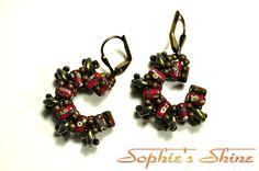 Beaded earrings - superduo, rula, toho