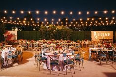 Wedding reception idea; photo: Brandon Kidd Photography