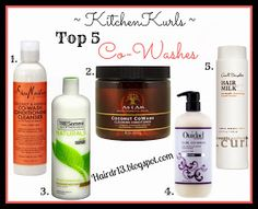 Natural Curly Hair Routine Top 5 cowash hair products.