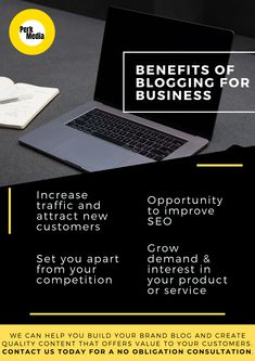 Benefits of blogging for business 🖥️📈  🔗 Increase traffic to your website and attract new customers   🔗 Having a page on your site to upload content helps improve SEO  🔗 Set you apart from your competition   🔗 Grow demand and interest in your product or services  Need help? 🤔 We can help you build your brand blog and create quality content that offers value to your customers. Contact us today for a no obligation consultation.   #PerkMedia #Lisburn #Belfast #SocialMediaManagement Digital Media Marketing, Email Marketing, Online Blog, Build Your Brand, Community Manager, Belfast, Seo, Benefit, Competition