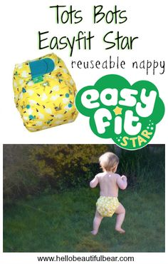 Review: Tots Bots Easyfit Star Reuseable Nappy #RNW2016 » Hello Beautiful Bear