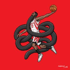 James Harden Gnarly Beard Illustration
