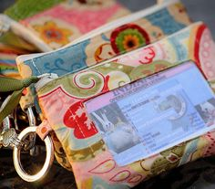 Sew Can She | Free Daily Sewing Tutorials  mini wallet...cell, keys, id etc. Could spend all day following the links from this page. Gotta dust off the sewing machine. :)