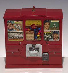 Mid-50s Baseball Card Gumball Machine