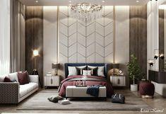 Dream Master Bedroom, Master Bedroom Design, Interior Design Masters, 3d Studio, Luxurious Bedrooms, Bed Design, Behance, Beds, Building Layout