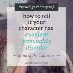 How to Tell If Your Character Has Avoidant Personality Disorder