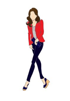 Duchesse de Cambridge Kate Middleton mode impression 8,5 « x 11 » Zara Blazer