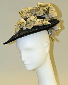 Hat Designer: H. O'Neill & Co.  (American, New York) Date: 1892 Culture: American Medium: straw, silk