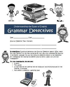 Grammar Detectives! A Common Core Adventure Activity! Subject, verbs, adjectives, adverbs and more! Your students will get to learn about all the grammar skills in a detective format! $