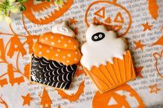 ハロウィンアイシングクッキー カップケーキ