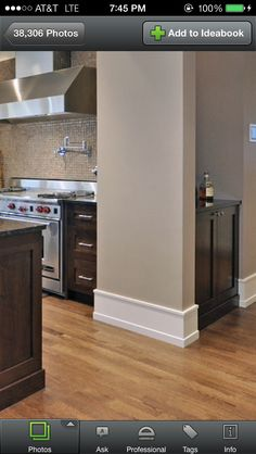 I really like this style - simple and easy to install. Our house doesn't have high ceilings though so I would choose a flatstock instead. Baseboard Trim, Baseboards, Baseboard Ideas, Moldings And Trim, Moulding, Cove Molding, Craftsman Trim, Craftsman Style, Architecture Design