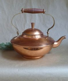 Copper+Tea+Kettle+made+in+Portugal+by+RebeccasVGVintage+on+Etsy,+$55.95