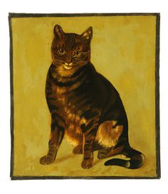 PORTRAIT OF A SEATED CAT(AMERICAN SCHOOL, EARLY 20...