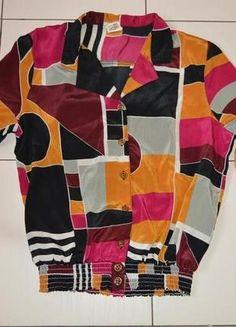 Kup mój przedmiot na #Vinted http://www.vinted.pl/kobiety/marynarki-zakiety-blezery/6745337-kolorowa-bluzka-vintage-ze-sciagaczem-na-guziki