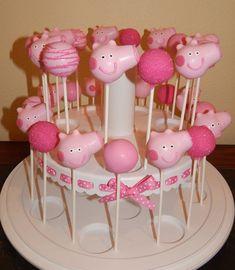 Peppa pig cake pops cake pops pinterest geburtstag peppa wutz und party - Cake pops 50 geburtstag ...