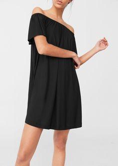 Off-shoulder dress | MANGO