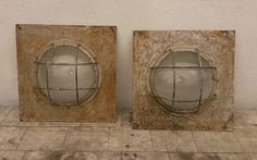 Architectural Salvage Industrial Metal Port Hole Windows Steampunk Lighting | eBay