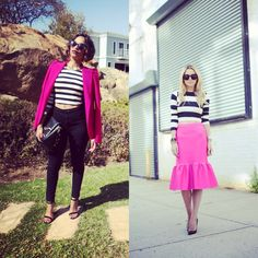How to wear black and white stripes with pink @Blair R Eadie // Atlantic Pacific #repost #Newhipsterstyle