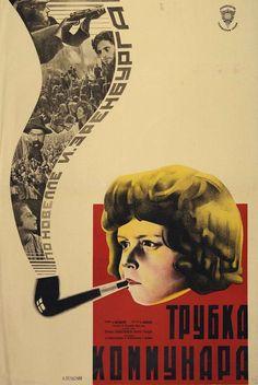 -Konstantin Mardzhanov.  -«La pipe du communard»   -D''après une nouvelle d'Ilya Ehrenburg.   -Editions du Goskinprom USR Georgia  -Moscou  -1929.
