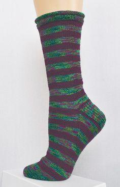 Panda Silk Striped Socks//Free Pattern