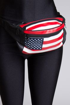 American Flag Leather Fanny Pack!