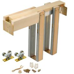 Johnson Hardware - 1500 Series Pocket Door Frame for Doors up to 28 in. x 84 in. - This pocket door frame is designed to fit into standard 2 in. x 4 in. timber or steel frame stud walls, and features a box design. Pocket Door Hardware, Sliding Door Hardware, Home Hardware, Sliding Doors, Barn Doors, Door Jamb, Wood Doors, Double Pocket Door, Pocket Door Frame